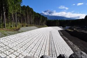富士山大久保沈砂池護岸工事